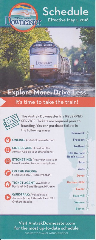Amtrak Downeaster 2018