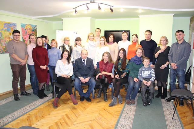 27 stycznia 2019 wspólna fotografia czlonków TKP w Sumach podczas spotkania z okazji 100 rocznicy Powstanie śląskie