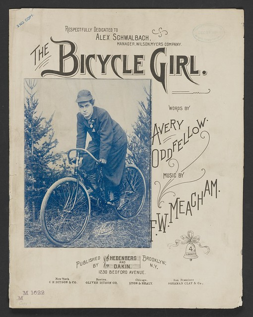 The Bicycle Girl (sheet music cover, 1895)