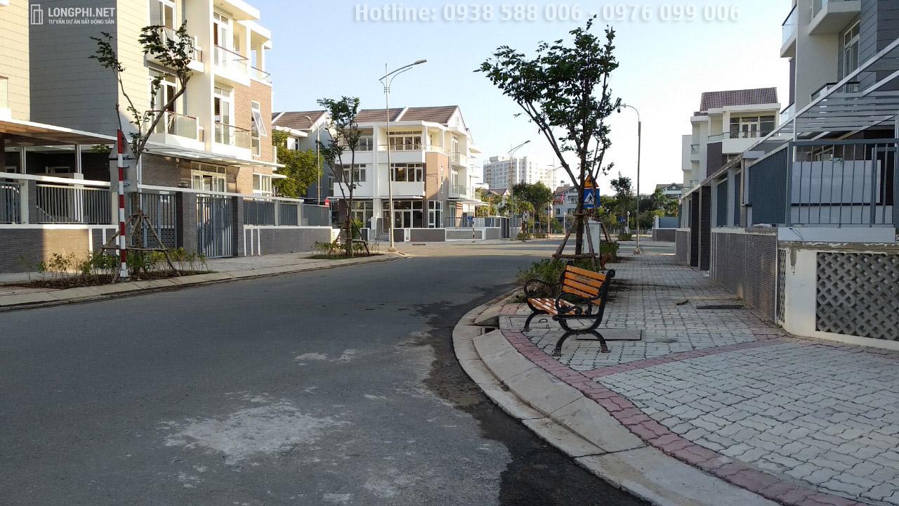 Khu biệt thự Jamona Golden Silk quận 7 có hạ tầng hoàn thiện.