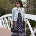 black and white maxi dress, denim jacket, white mules, straw bag-8.jpg