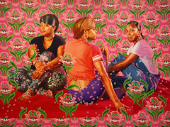 Kehinde Wiley, Three Girls in a Wood, 2018