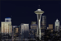 SEATTLE SPACE NEEDLE IN HER NIGHT GLORY