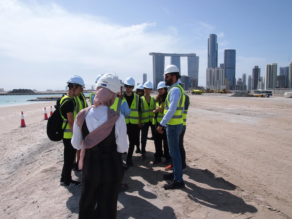 Architecture students view a site in Abu Dhabi for the option studio Matter Design Computation: Human-Centered Adaptive Architecture in the UAE, led by Associate Professor Jenny Sabin.   photo / Jenny Sabin