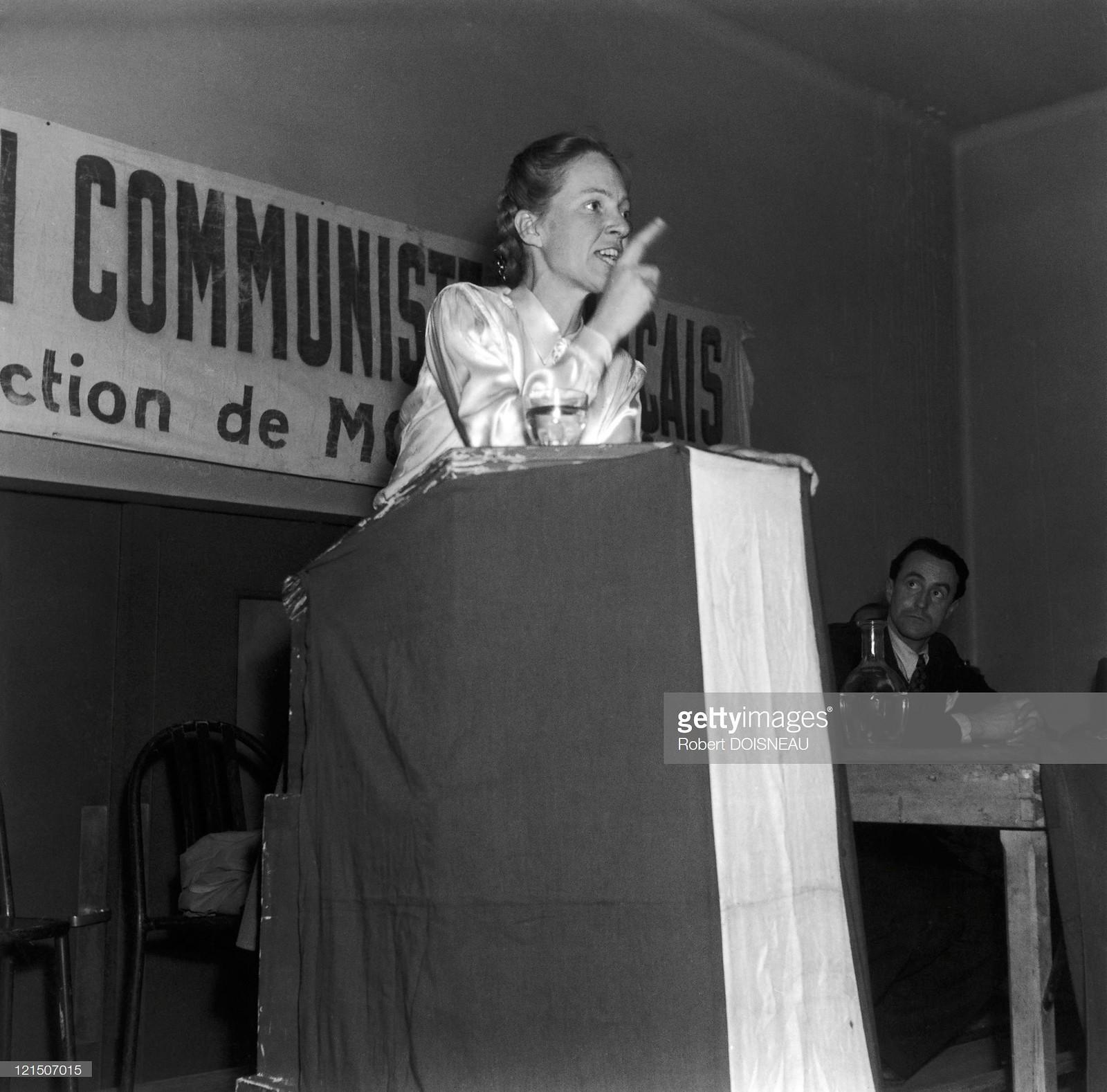 1950. Мари Клод Вайян-Кутюрье — французский политик, деятель Международного демократического женского движения, генеральный секретарь Международной демократической федерации женщин в 1945—1954