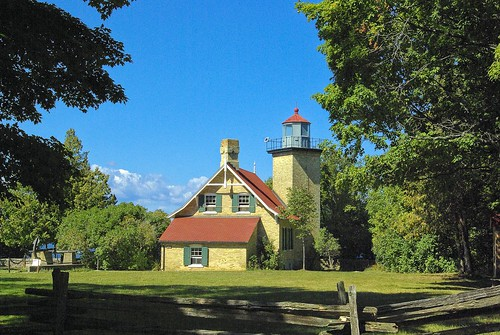 Eagle Bluff Lighthouse. From 5 Places to Go by Car from Chicago
