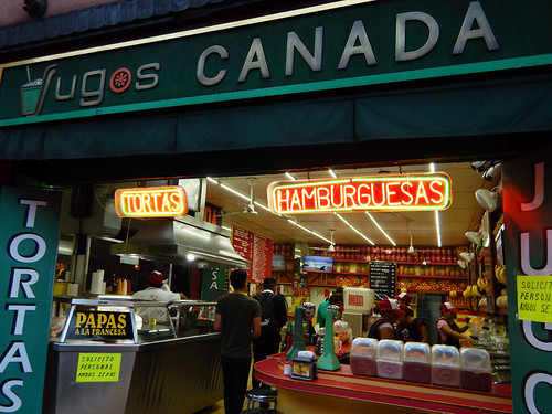 Jugos Canada, a fresh juice and torta café in Mexico City