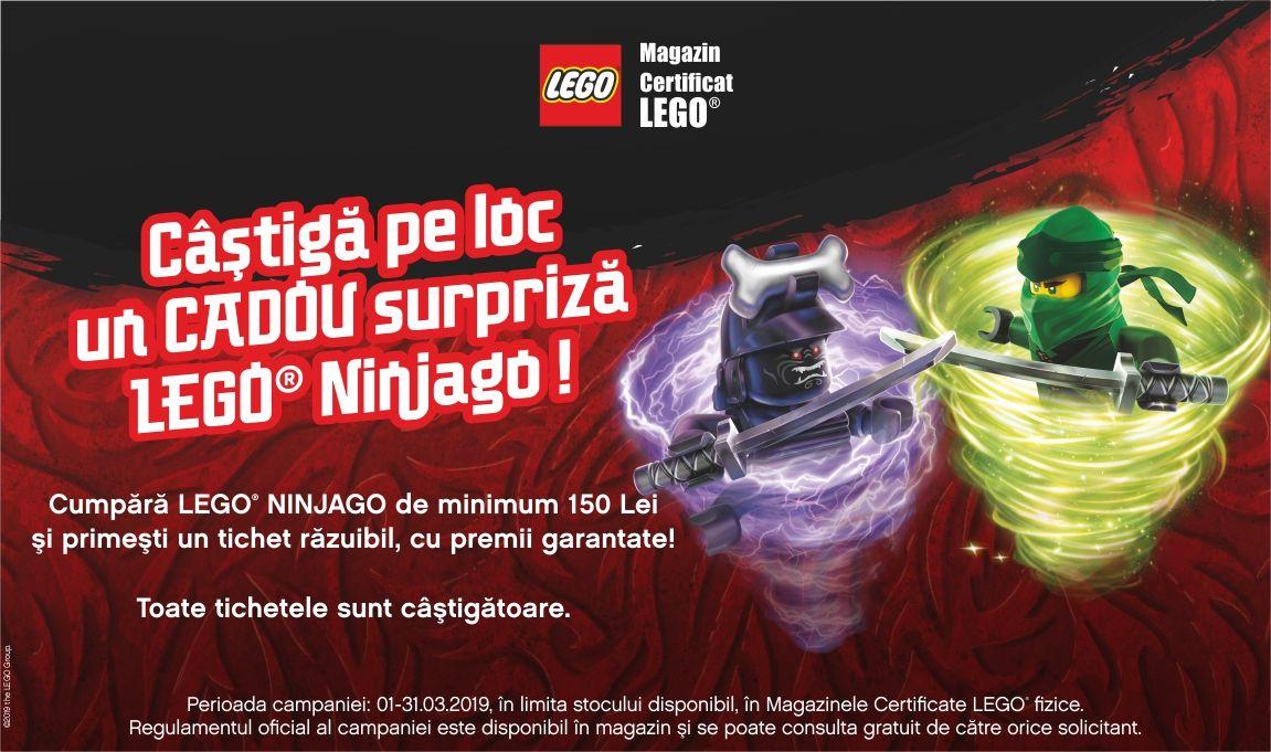 Castiga pe loc un cadou surpriza LEGO® Ninjago