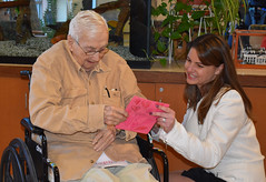 Rep. Carpino visits the Rocky Hill Veterans' Home.