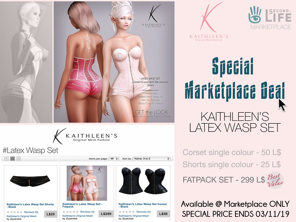 Kaithleen's Special Marketplace Deal - Latex Wasp Set - TeleportHub.com Live!