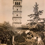 1930 2005 S. Giovanni a Porta Latina a, Campanile, XII sec., Foto d'anonimo - https://www.flickr.com/people/35155107@N08/