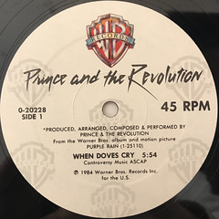 PRINCE AND THE REVOLUTION:WHEN DOVES CRY(LABEL SIDE-A)