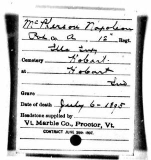 2019-03-29. McPherson, Napoleon - order for stone