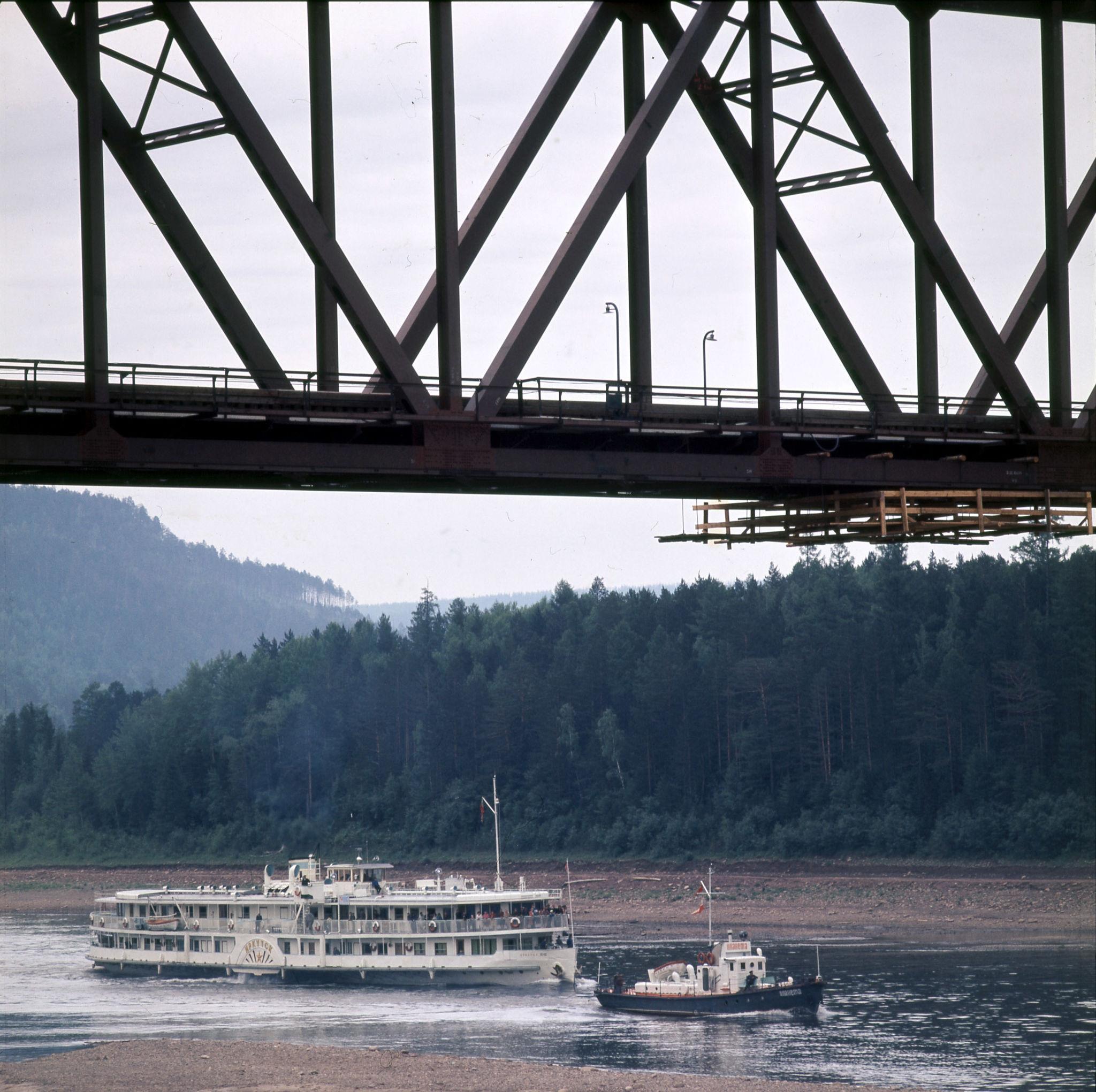 1970-е. Мост через реку Лена, Усть-Кут.