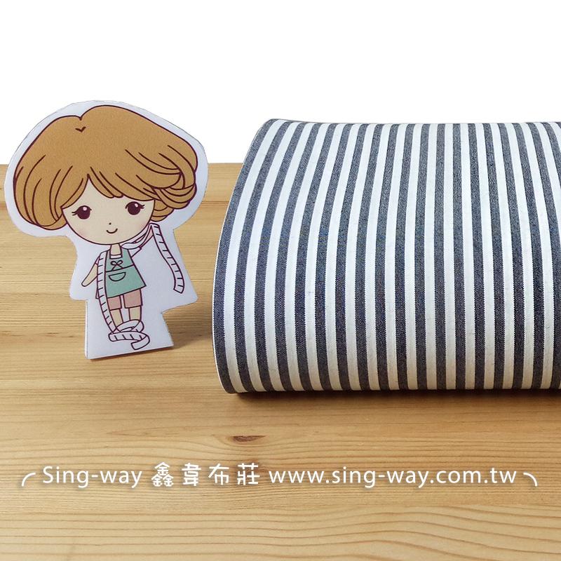灰白條紋 直線 條紋 襯衫洋裝服裝布料 FC690173