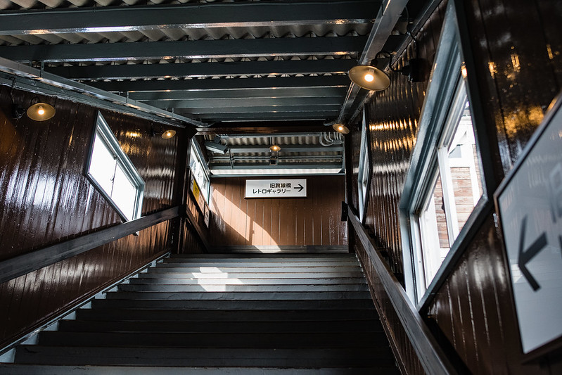下今市駅旧跨線橋ギャラリー入口