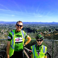 Atop Mount Soledad with Number Two. Ride across Cali…