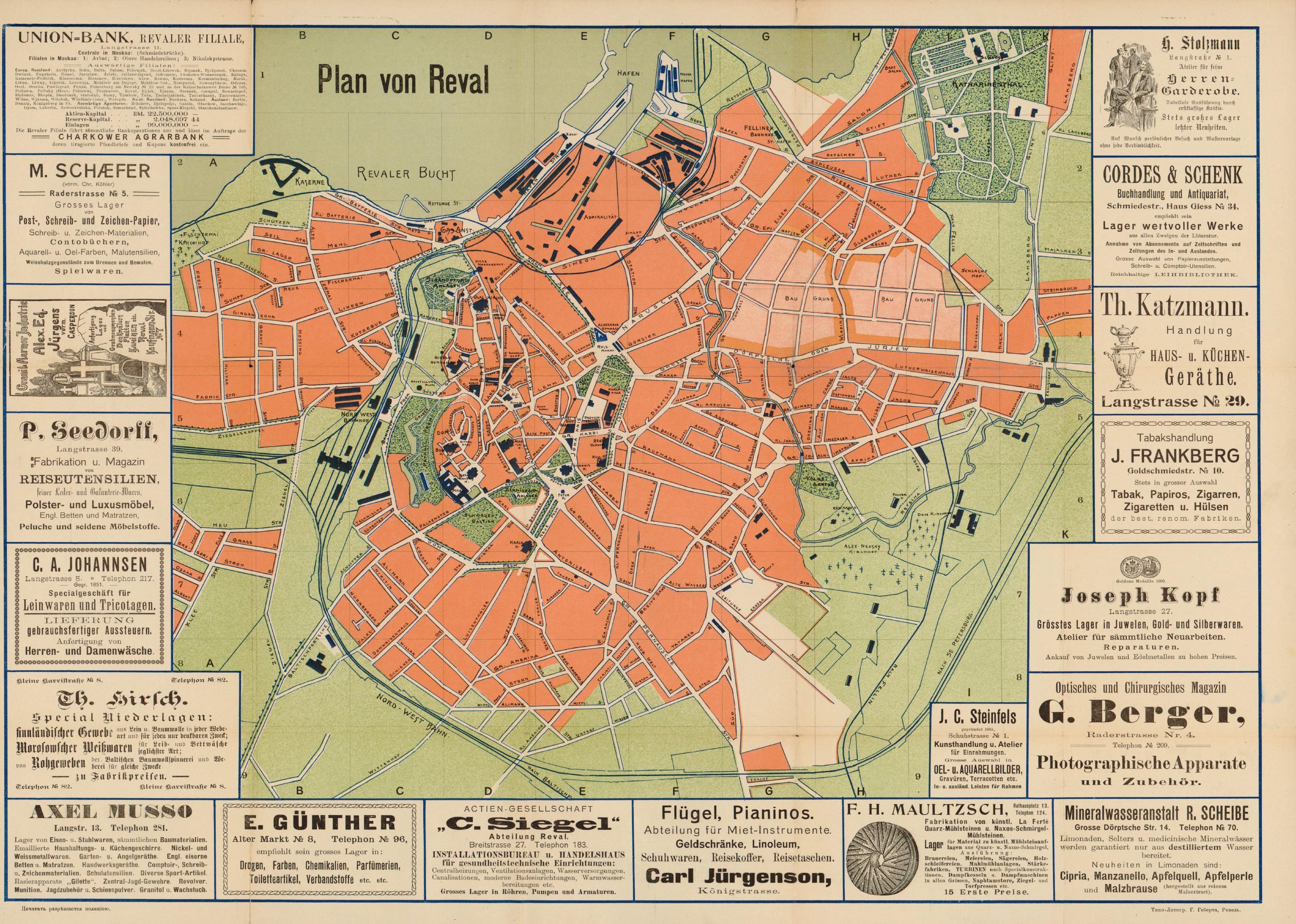 1900. План Ревеля