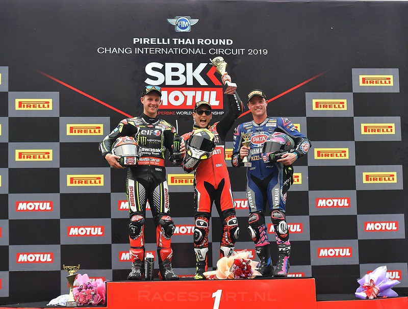 WorldSBK race 1 - podium