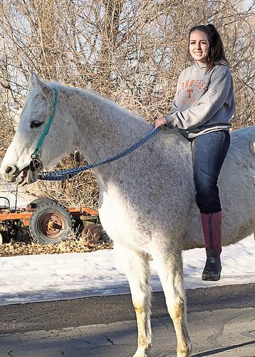Pretty Girl On A  Horse