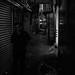 Walking on a back alley
