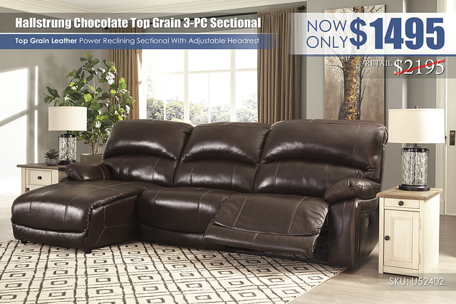 Hallstrung Power Reclining 3PC Sectional_U52402