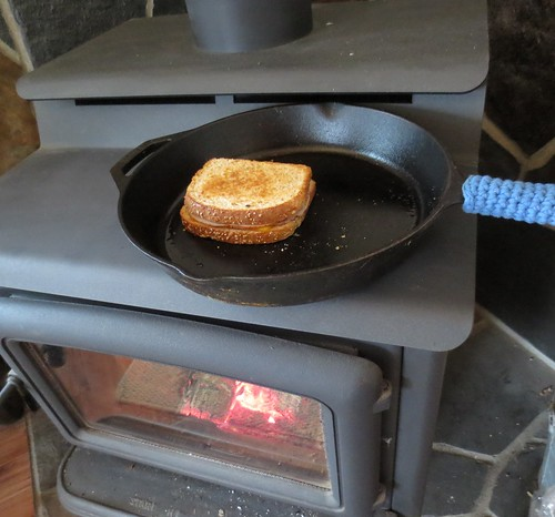 Grilled Sandwich on the Woodstove