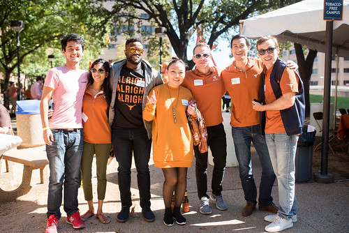 UT PGE students and alumni showcase their Longhorn spirit at the annual department tailgate