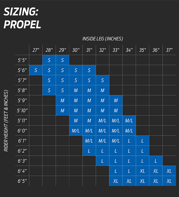Giant Propel Size Chart