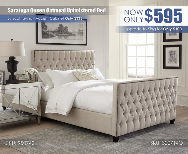 Saratoga Queen Upholstered Bed_300714Q