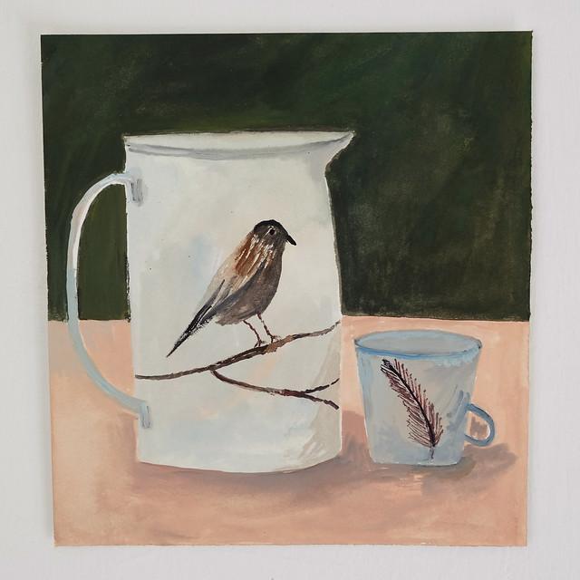 bird jug still life