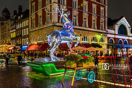 Merry Christmas And Happy Holidays - Covent Garden, London, UK