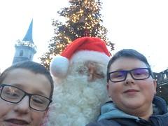 La rencontre avec le père Noël pendant la sortie