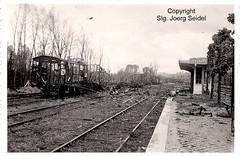F-02340 Montcornet (02) Gare SNCF après la bataille de Montcornet en mai 1940