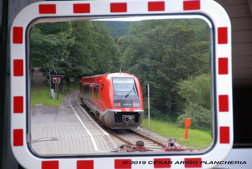 Obstfelderschmiede. Espejo en los andenes 04.07.2007
