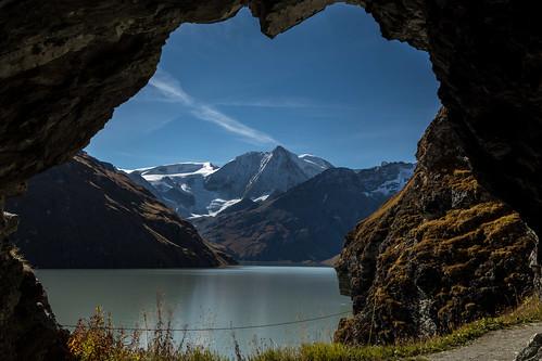 Lac des Dix et mont Blanc de Cheilon, Suisse