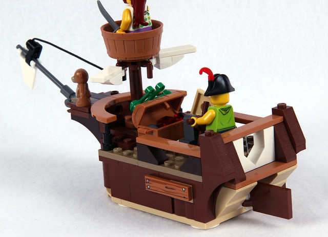 B Model Pirate Ship - Back
