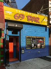 At the 69 Bar in Queens.