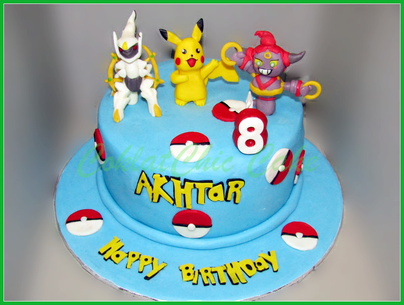 Cake Pokemon AKHTAR 20 cm