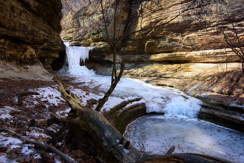Entering LaSalle Canyon in Winter
