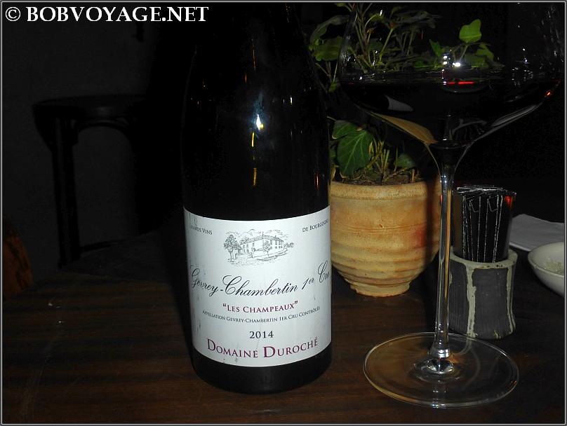 Domaine Duroche Gevrey Chambertin Les Champeaux 2014 ששתינו ב- ג'וז ולוז (joz veloz)
