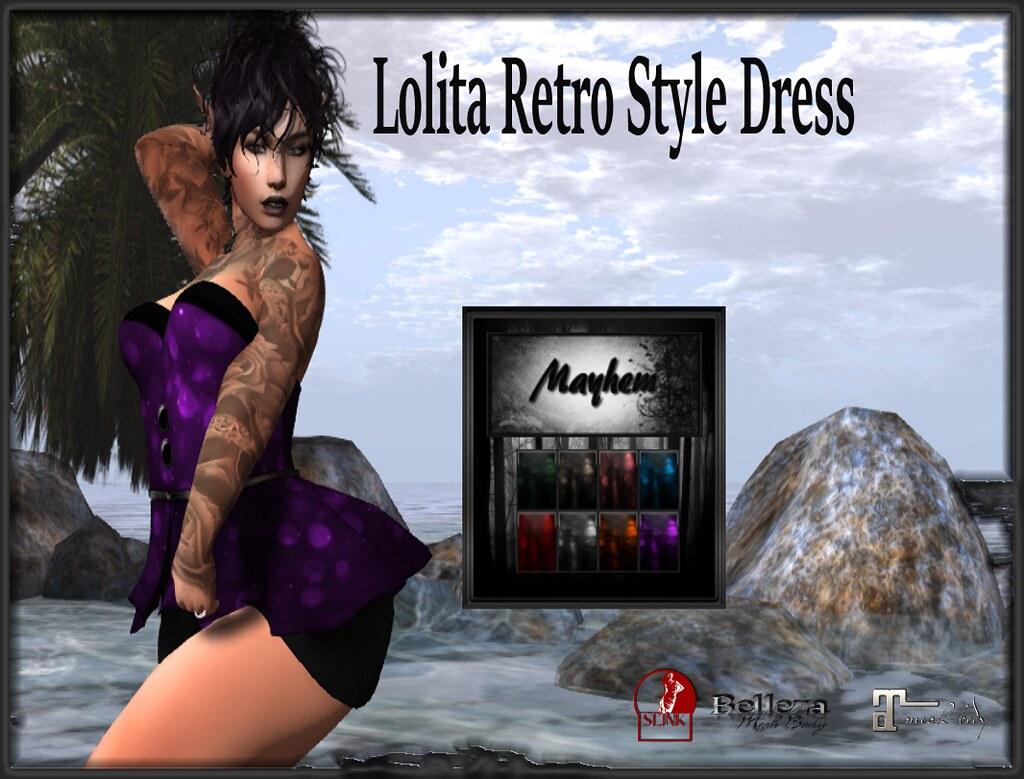 Mayhem Retro Lolita Dress AD - TeleportHub.com Live!