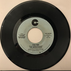 THE IMPRESSIONS:THIS TIME(RECORD SIDE-A)