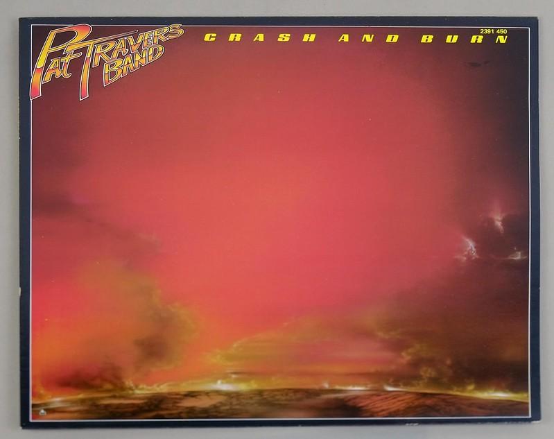 "PAT TRAVERS CRASH AND BURN 12"" LP ALBUM VINYL"