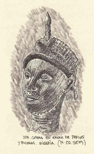 Cabeza con corona. Ife. Nigeria