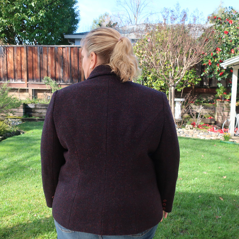 H blazer back view