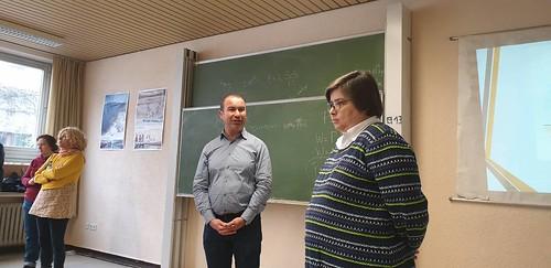 Με το Διευθυντή του Ελληνικού Γυμνασίου-Λυκείου της Κολωνίας
