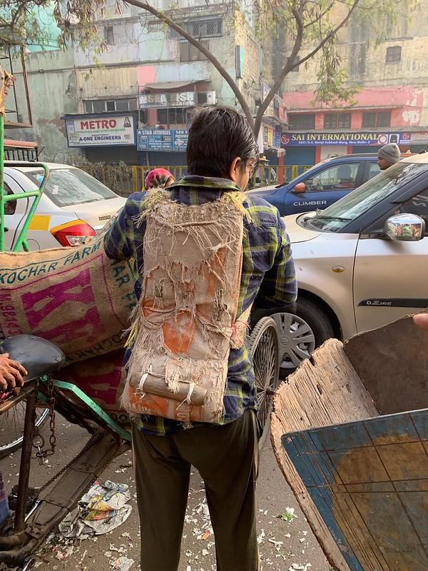 City Life - Labourer's Backpack, Central Delhi