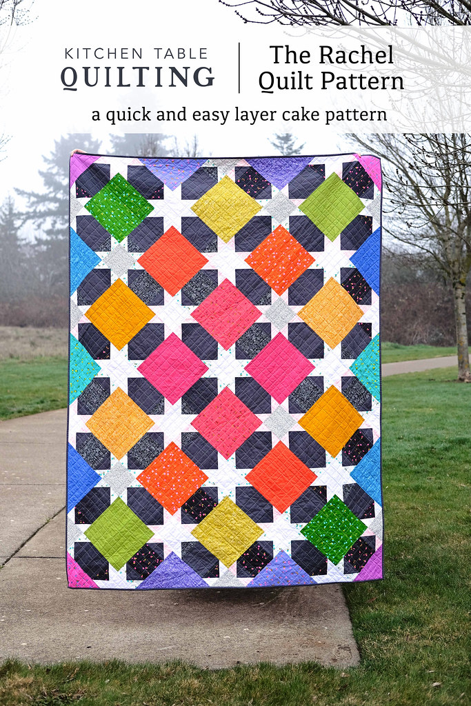 The Rachel Quilt Pattern by Kitchen Table Quilting - Made in Sunprint 2019 by Alison Glass