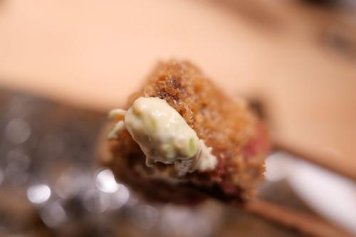 揚物 和牛カツレツとタラの芽天ぷら